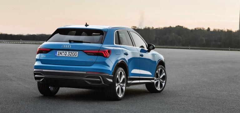 Audi Q3 bleue