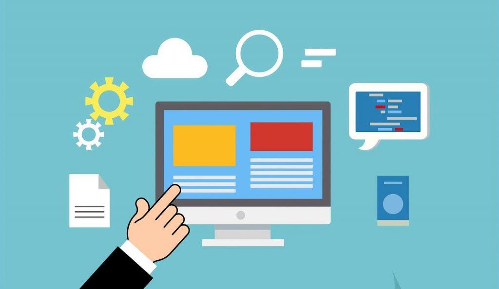illustration d'une interface de services numériques