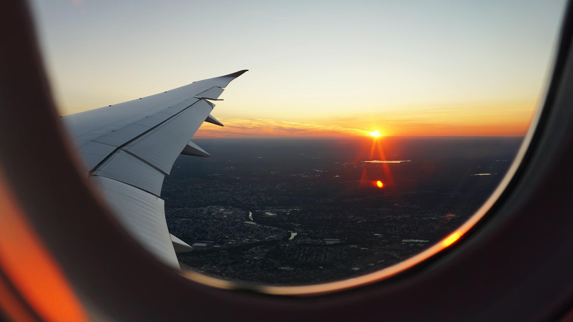 vue du hublot d'un avion